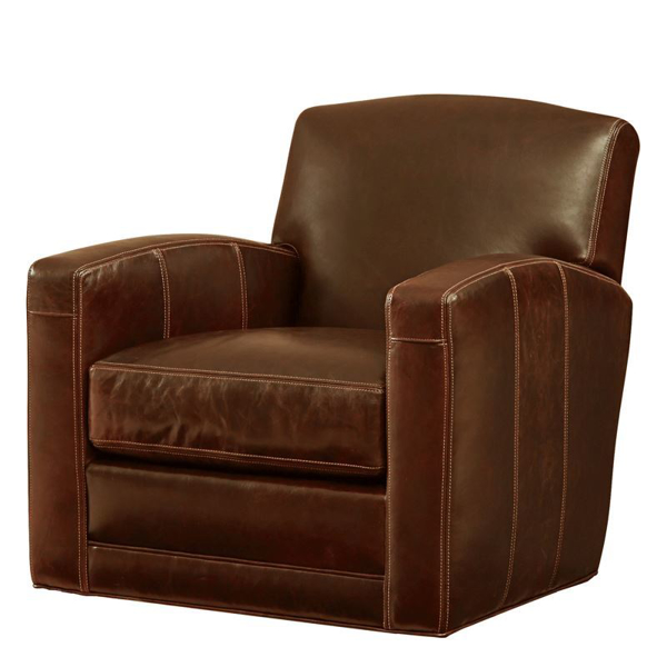 Tyler Leather Swivel Chair Bahamabrown 34 2