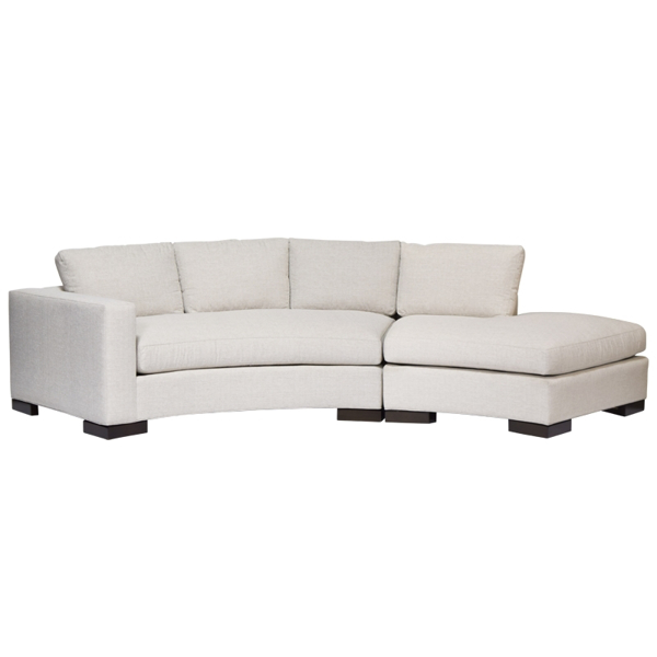 HW Home-Bennett Curved Sofa Sectional