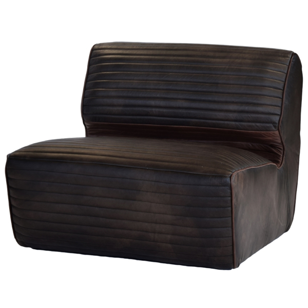 Canyon Leather Armless Chair 34 1
