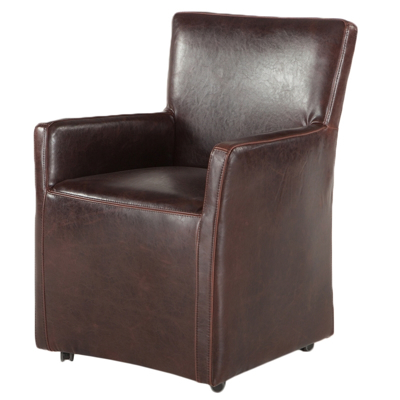 Picture of Peabody Brown Leather Chair