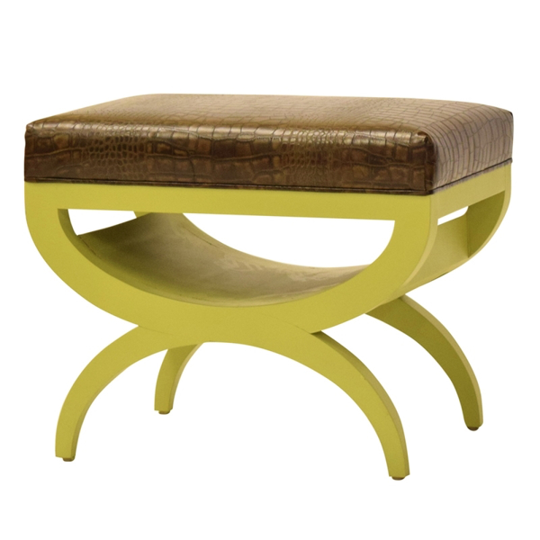 Awesome Oswald Leather Ottoman Machost Co Dining Chair Design Ideas Machostcouk